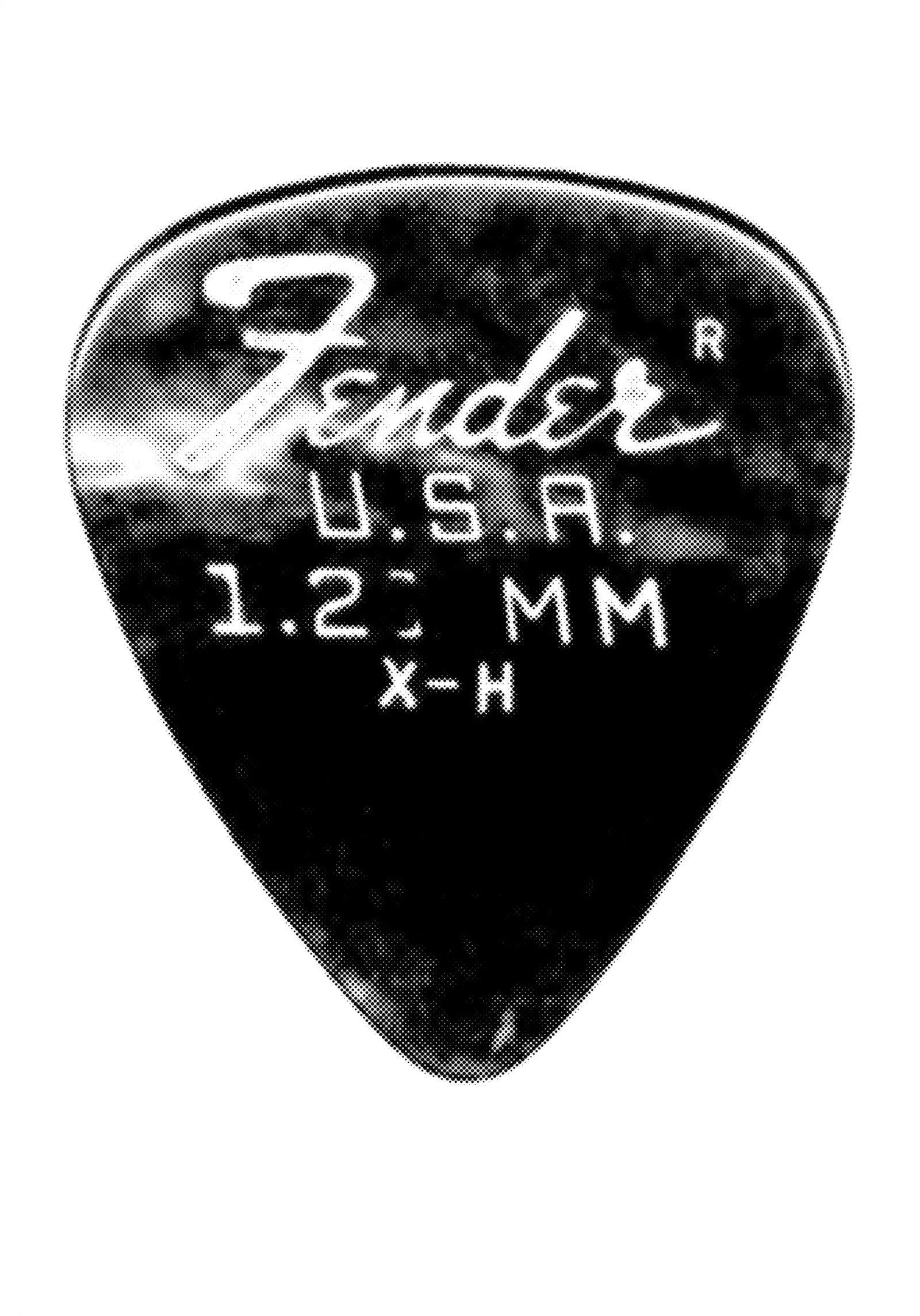 Plectrum medium Fender #01