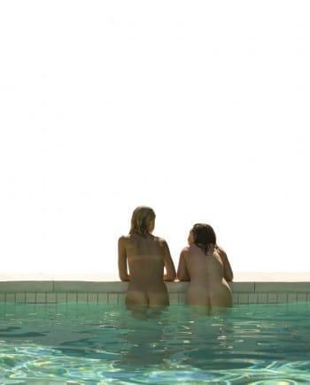 Two Women in a Pool