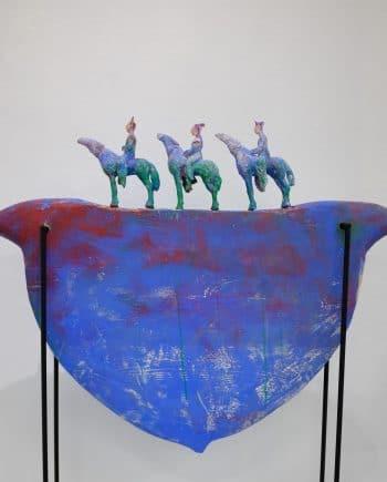 Boatshape with horses