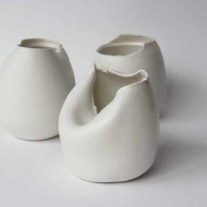 Squeezed Egg Vase
