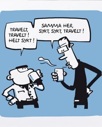 Sykt travelt (Buisy). Blue